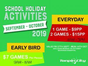 School Holidays Offer